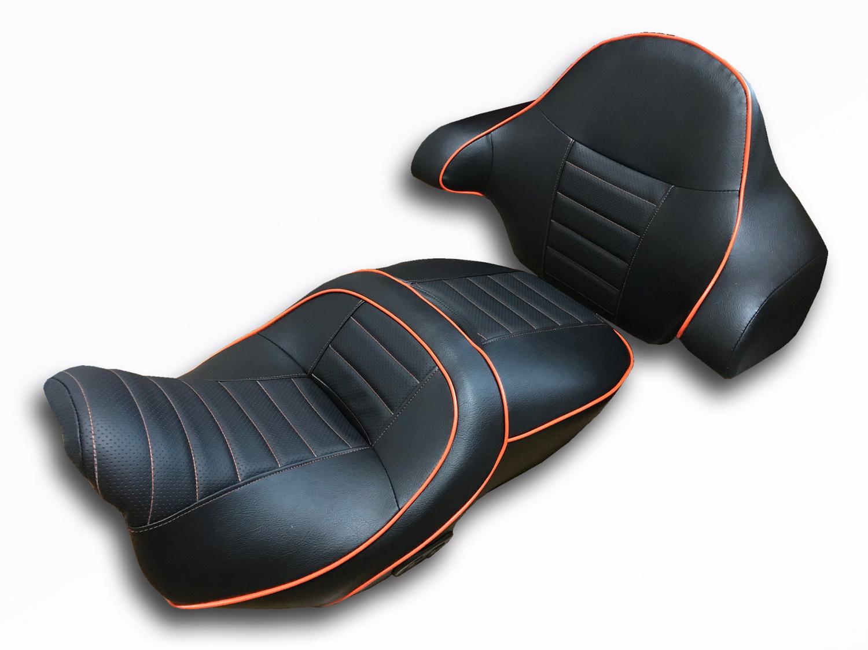 ハーレーCVO、シートヒーター付きのモデルのシート張替え