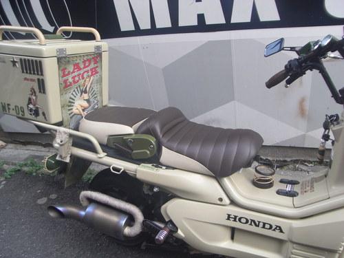 PS250シート張替え 装着画像