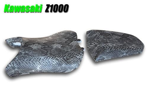 カワサキ Z1000 蛇柄シート張替え