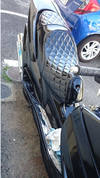 マジェスティ125シート張替え 装着画像