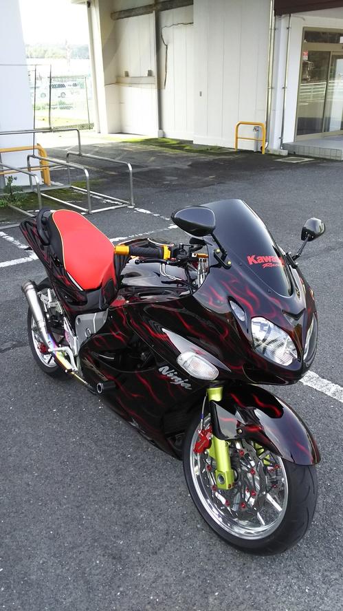 kawasaki ZZR1200 シート張替え