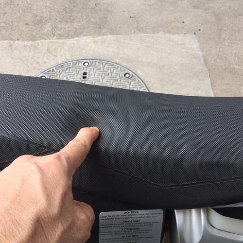KTMフリーライド シート 低反発スポンジ加工 インプレ