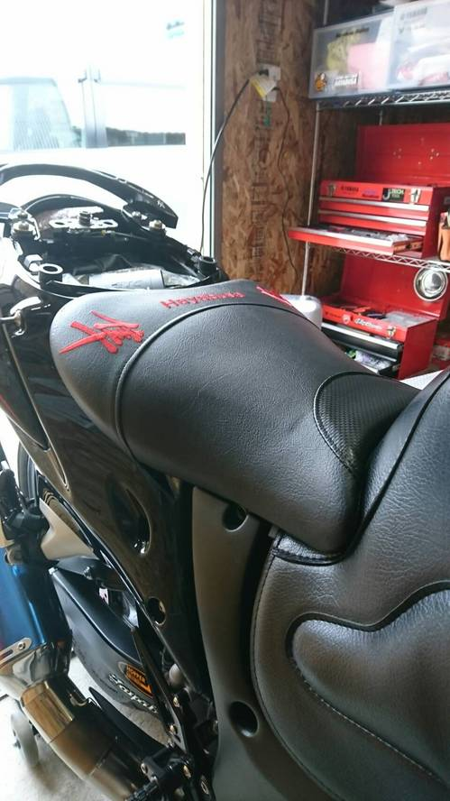 GSX1300Rハヤブサ シート張替え
