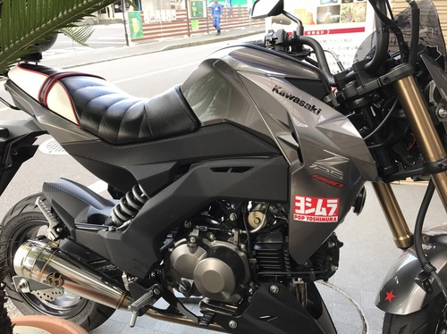 kawasaki Z125Pro シート張替え